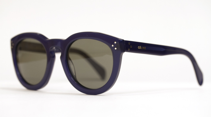 c796f69eafd6 Celine Sunglasses with a keyhole bridge in Navy at Dan Deutsch Beverly Hills