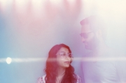 Woman and man with natural light in Mark Borthwick\'s Mykita campain