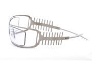 Unibody Stainless steel eyewear with fishbone motif