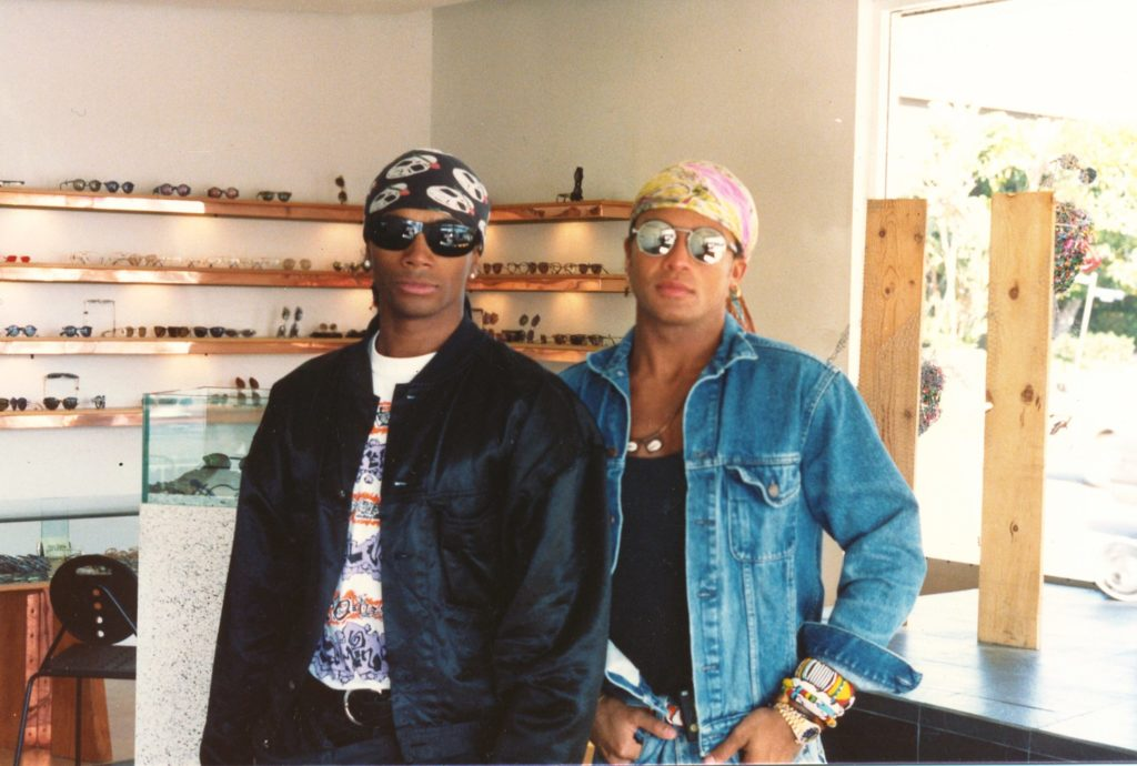 Milli Vanilli at Dan Deutsch Optical Outlook West Hollywood