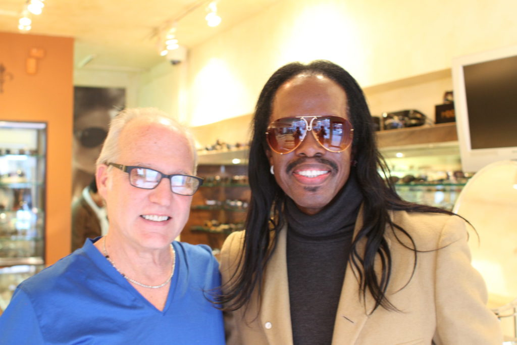 Dan Deutsch and Verdine White with custom gradient tint lenses