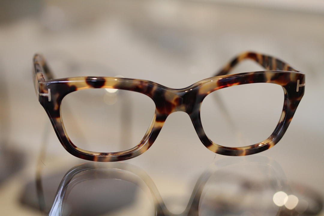 Tom Ford Tortoise shell glasses available at Dan Deutsch Optical Outlook