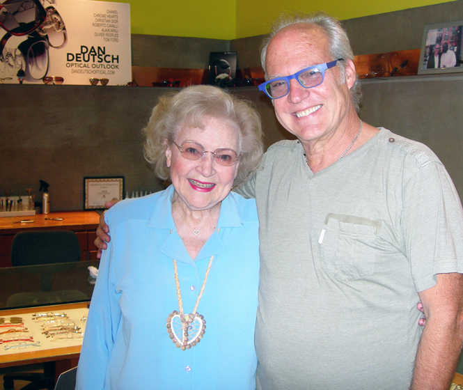 Betty White and Dan Deutsch
