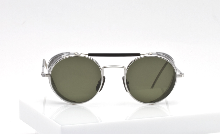 Thom Browne Eyewear silver with side shields