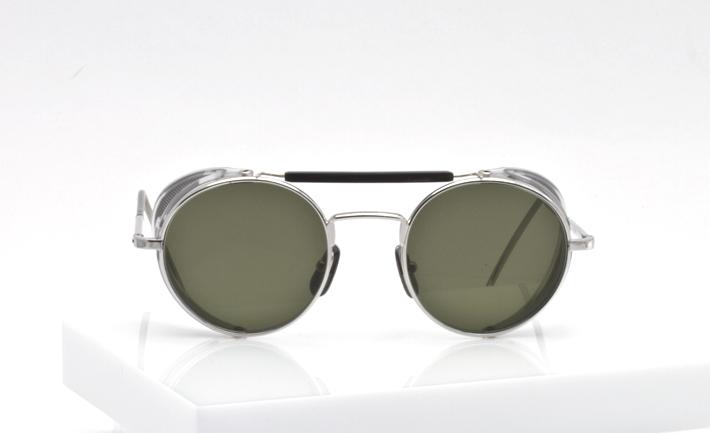 Thom Browne Eyewear silver with side shields