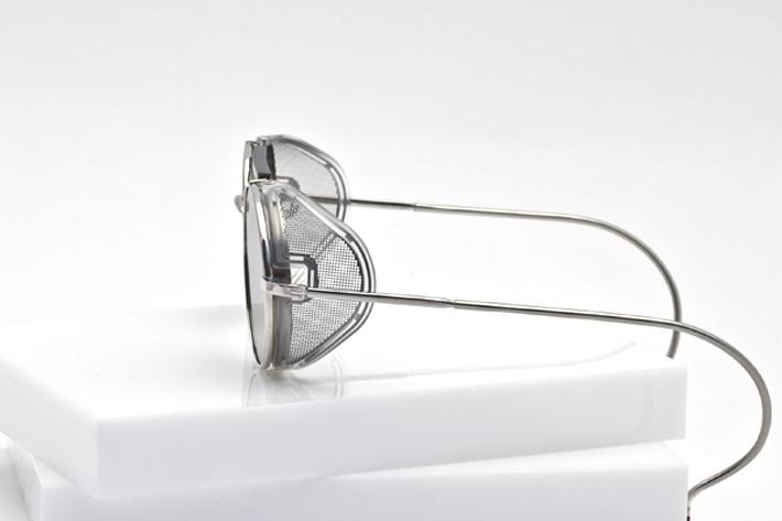 Thom Browne Eyewear Silver Profile View