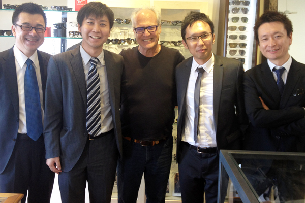 Dan Deutsch and the Masunaga Optical delegation at West 3rd Street