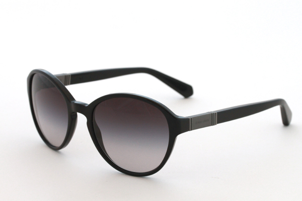 Plastic Giorgio Armani Sunglasses with grey fade lenses, re-released by Giorgio Armani 2013, originally featured in the 1980 film American Gigolo