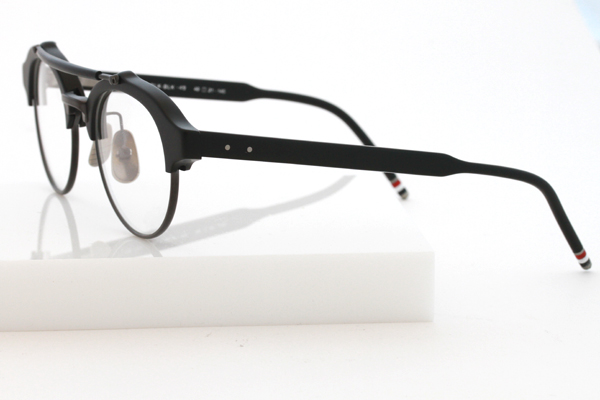 Thom Browne eyewear TB 700 double bridge black profile
