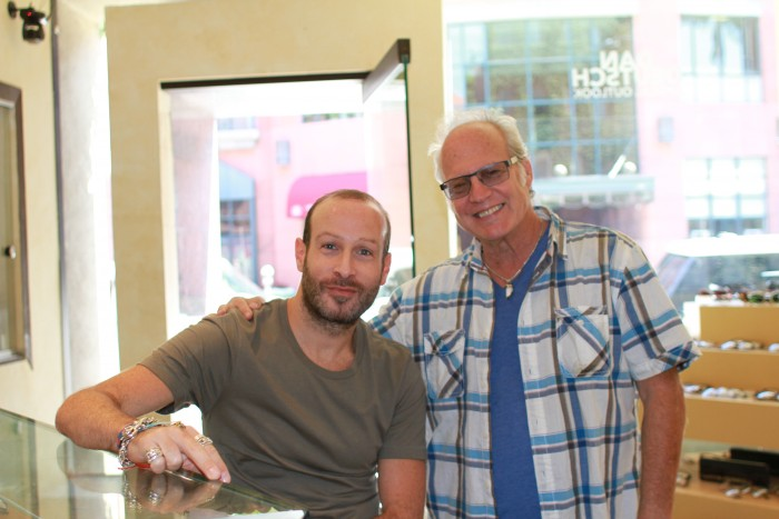 Thierry Lasry and Dan Deutsch at Dan Deutsch Optical Outlook Beverly Hills