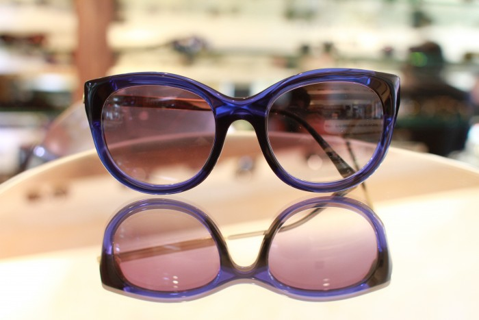 A clever new beveling technique allows Thierry Lasry's Dirty Mindy to be extremely lightweight, comfortable and brilliant. Shown here in Blue.