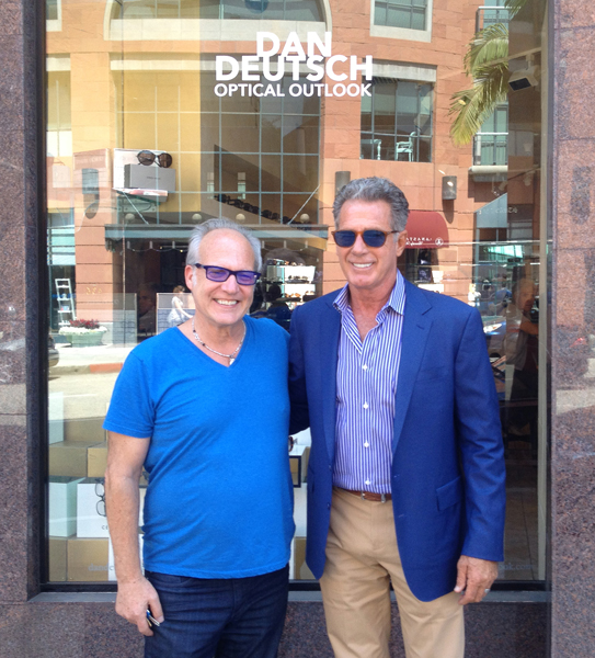 Dan Deutsch and Jack Scalia in Beverly Hills
