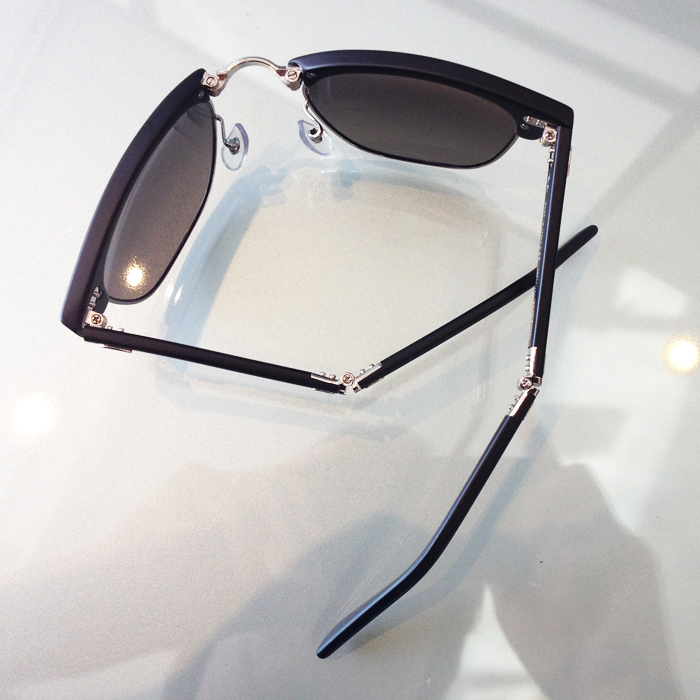 Folding Ray-Ban Clubmaster in Black at Dan Deutsch Optical Outlook Westwood Village