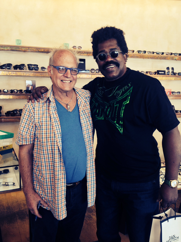 Dan Deutsch with Larry Blackmon of Cameo at Dan Deutsch in West Hollywood
