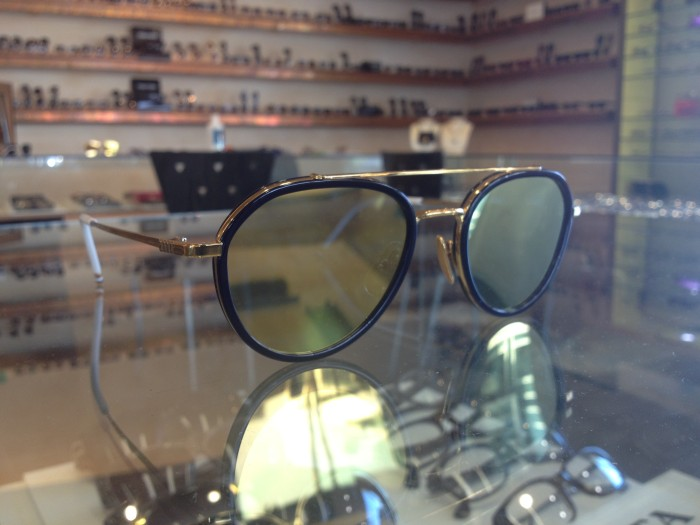 Thom Browne Aviators with flash mirror lenses