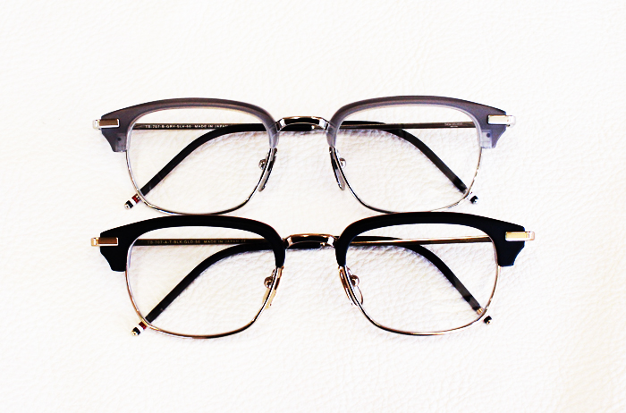 Thom Browne eyewear in black and grey