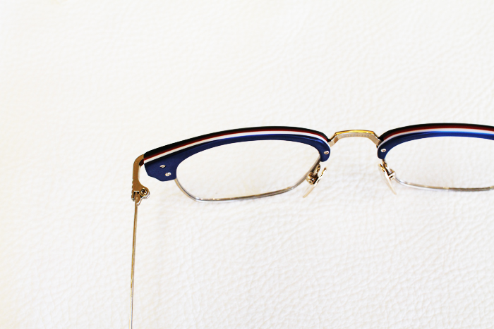 904be7ce2b3 Black Thom Browne Eyewear with Red White and Blue Layers at Dan Deutsch  West Hollywood
