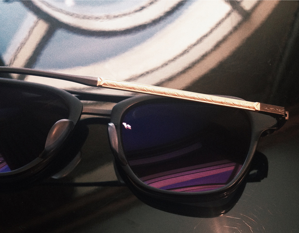 "Masunaga x Kenzo Sunglasses in titanium and 18k Gold ""Campanule"""