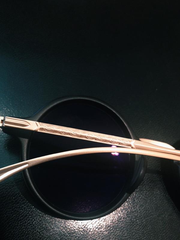 "Masunaga x Kenzo Sunglasses black with 18k gold ""Mokko"""