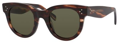 Fantastisch Céline 41053/S In Havana Beige (09RH) With Green Lenses