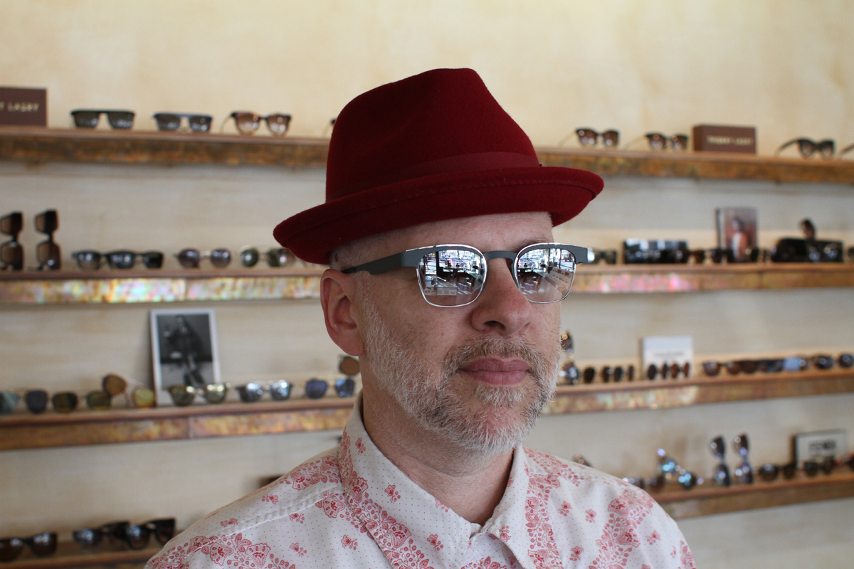 Eric wearing the clubmaster-inspired Walter by Anne et Valentin with custom lenses