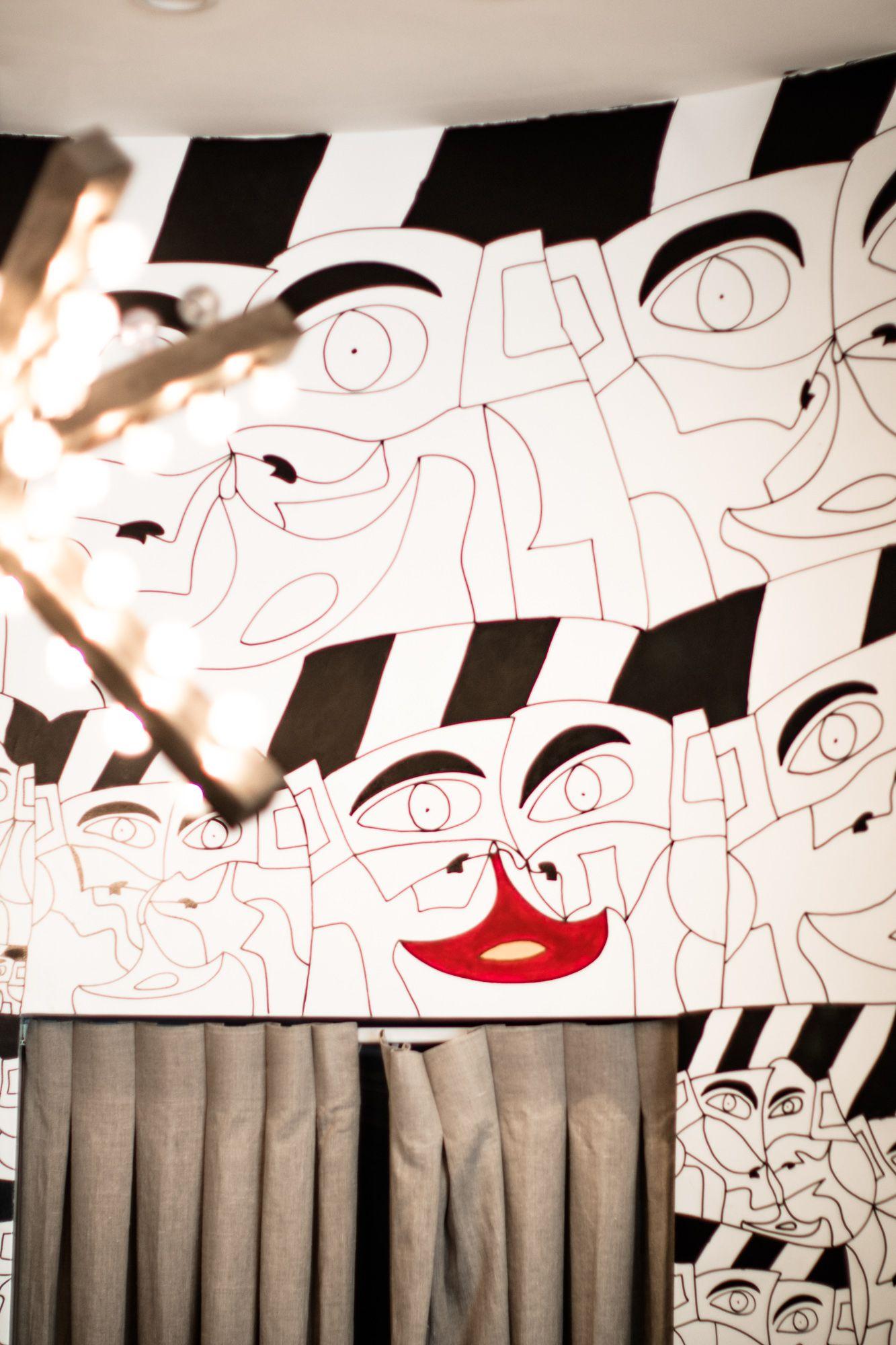 Faces of Hope Mural detail by Ricardo Aguilar at Dan Deutsch Sunset Plaza