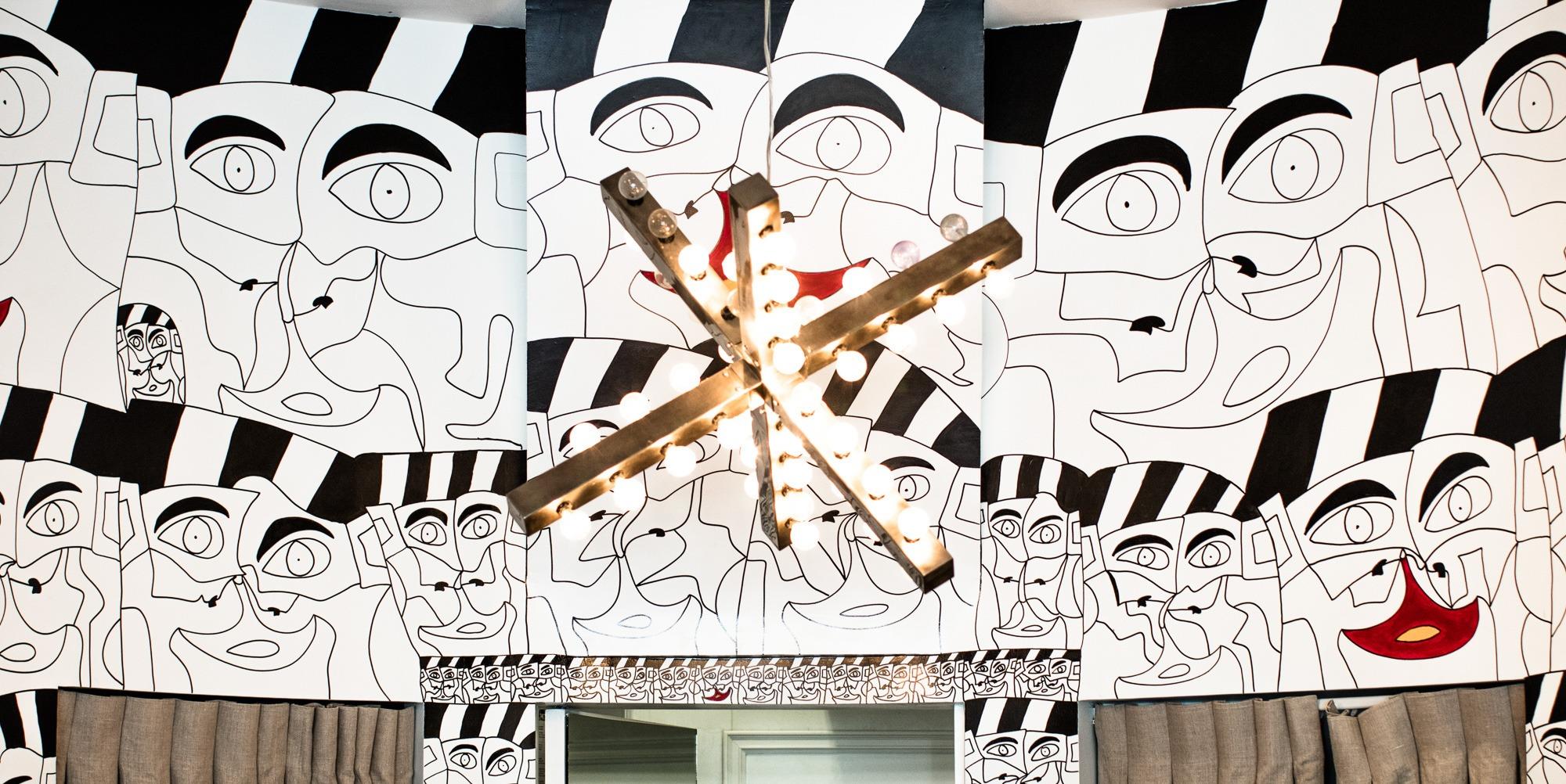 Ricardo Aguilar Faces of Hope Mural at Dan Deutsch