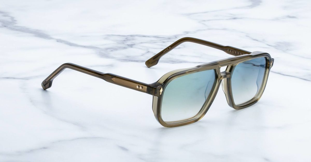 Jacques Marie Mage Felson sunglasses in color Army JMMFN-3N