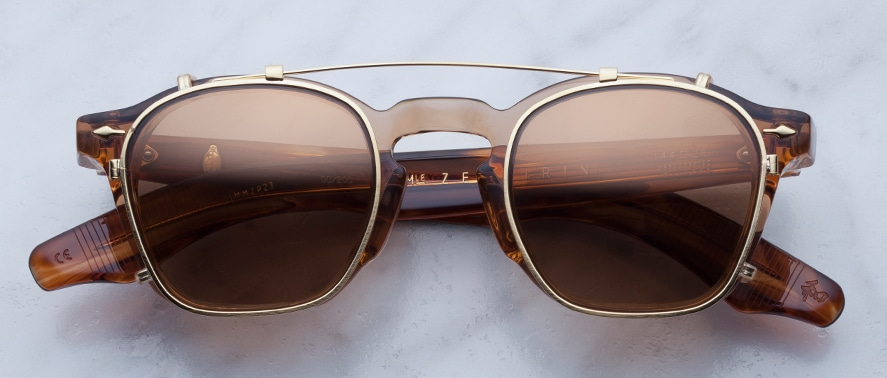 Jacques Marie Mage Zephirin Clipon in Gold with Bronze Lenses JMMZPC-6