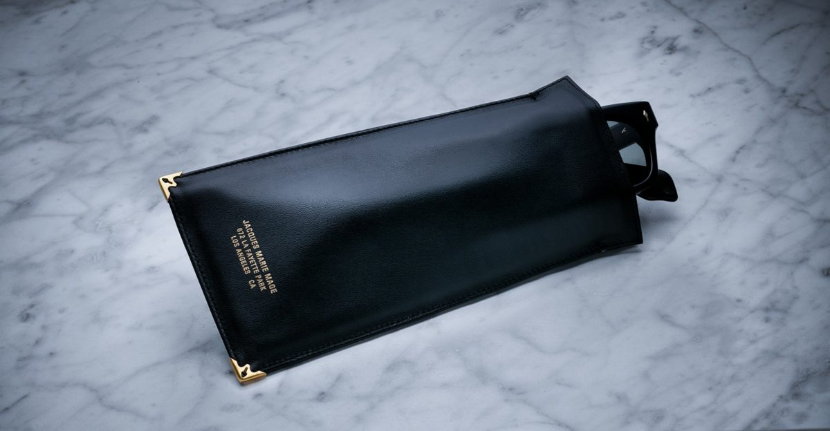 Jacques Marie Mage Soft Genuine Leather Pouch in Black JMM-ACCS-014