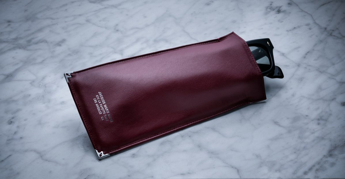 Jacques Marie Mage Soft Genuine Leather Pouch in Burgundy JMM-ACCS-017