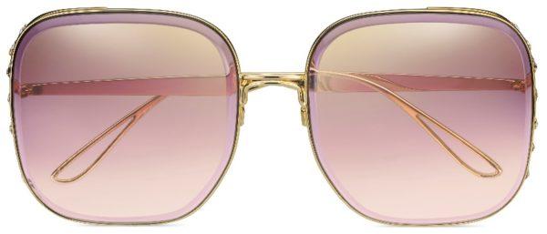 ELIE SAAB ES 005/S Gold with Burgundy lenses