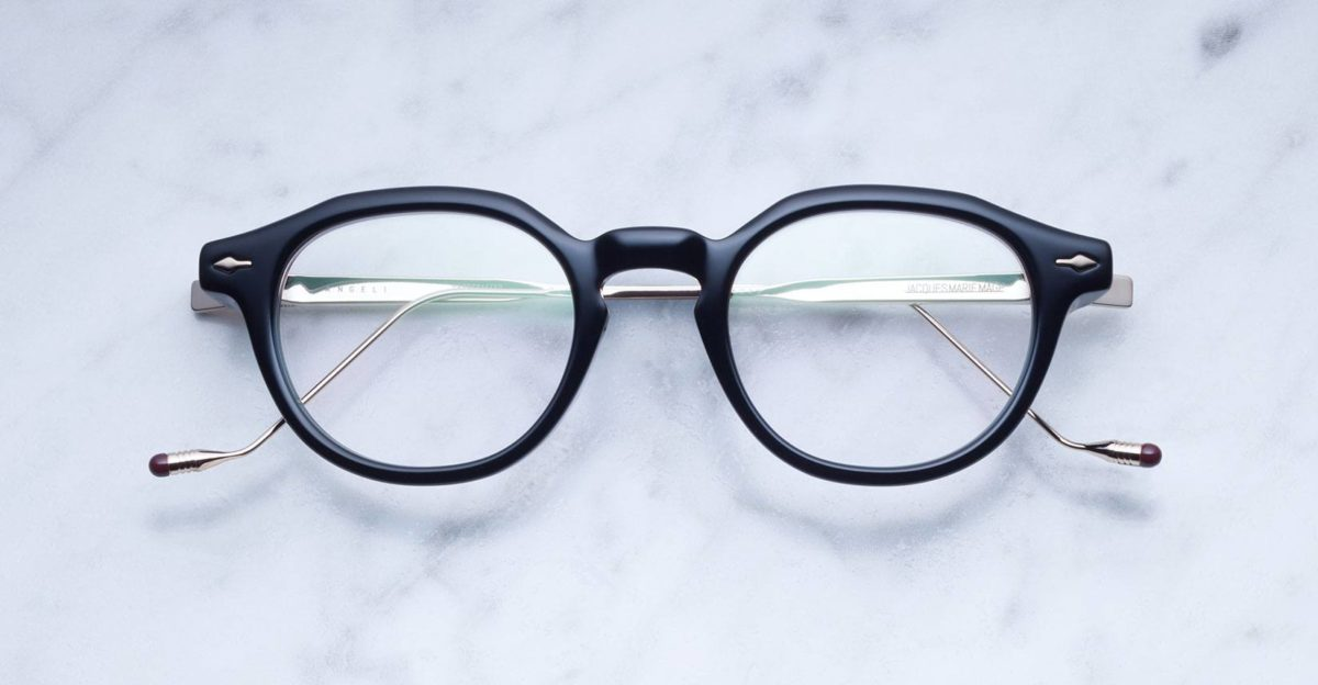 Jacques Marie Mage Angeli style eyeglasses in Black