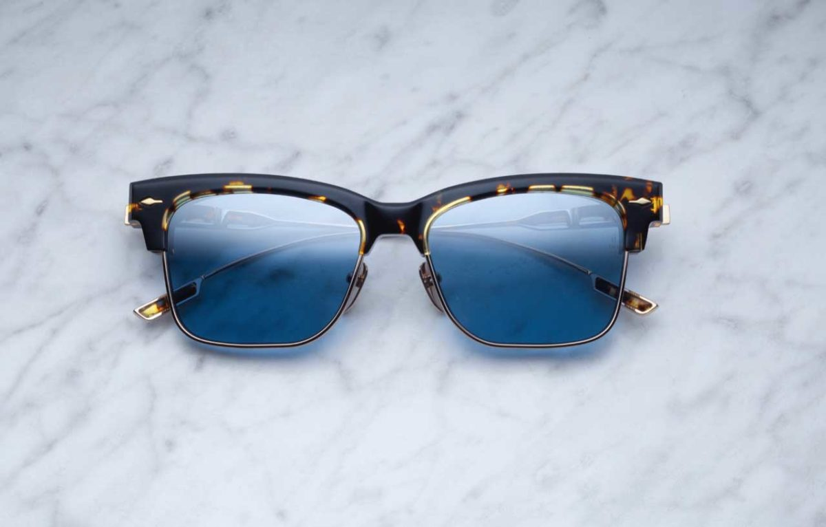 Jacques Marie Mage Apache style sunglass in Leopard