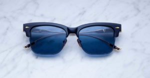 Jacques Marie Mage Apache style sunglasses in Marine