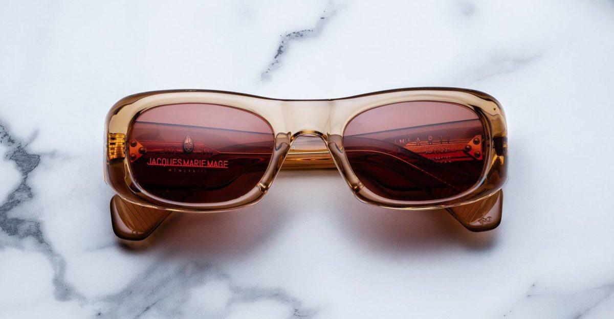 Jacques Marie Mage Ari sunglasses in Tan color JMMRI-01