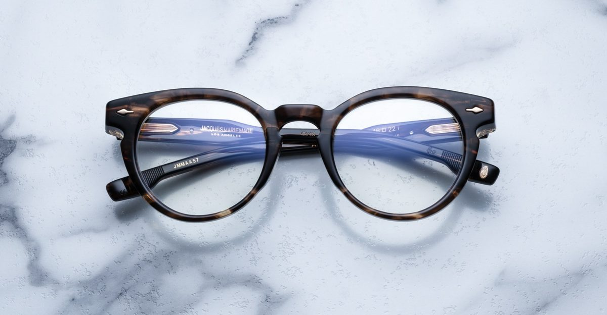 Jacques Marie Mage Arp style glasses in the Flash colorway