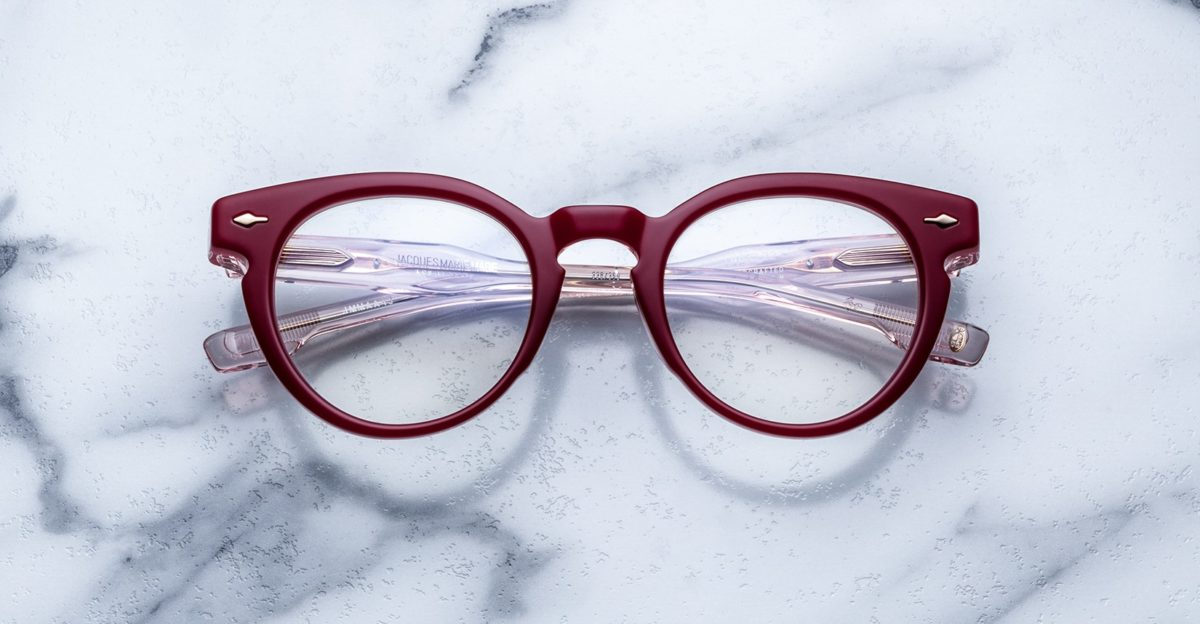 Jacques Marie Mage Arp style glasses in red