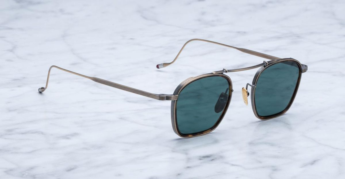 Jacques Marie Mage Baudelaire style sunglasses in Antique Gold