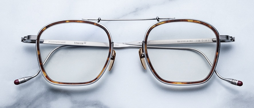 Jacques Marie Mage Baudelaire style eyeglasses in colorway Antique