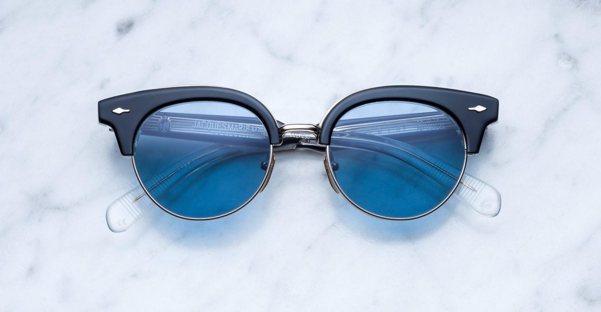 Jacques Marie Mage Beavoir style sunglasses in Noir colorway