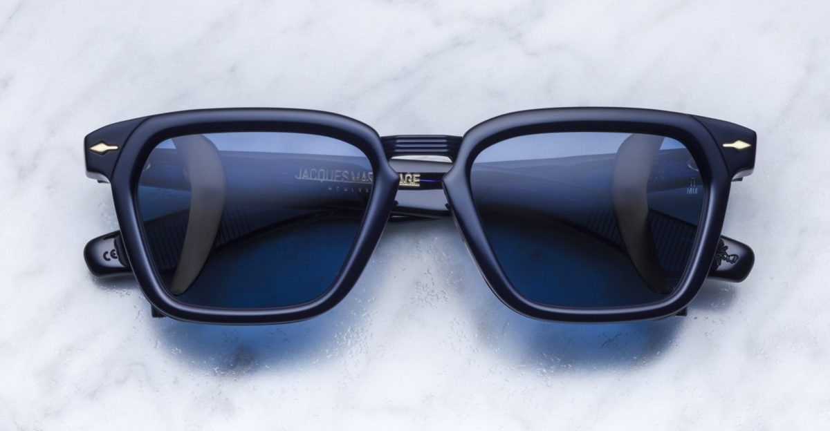 Jacques Marie Mage Borodino style sunglasses in colorway Marine