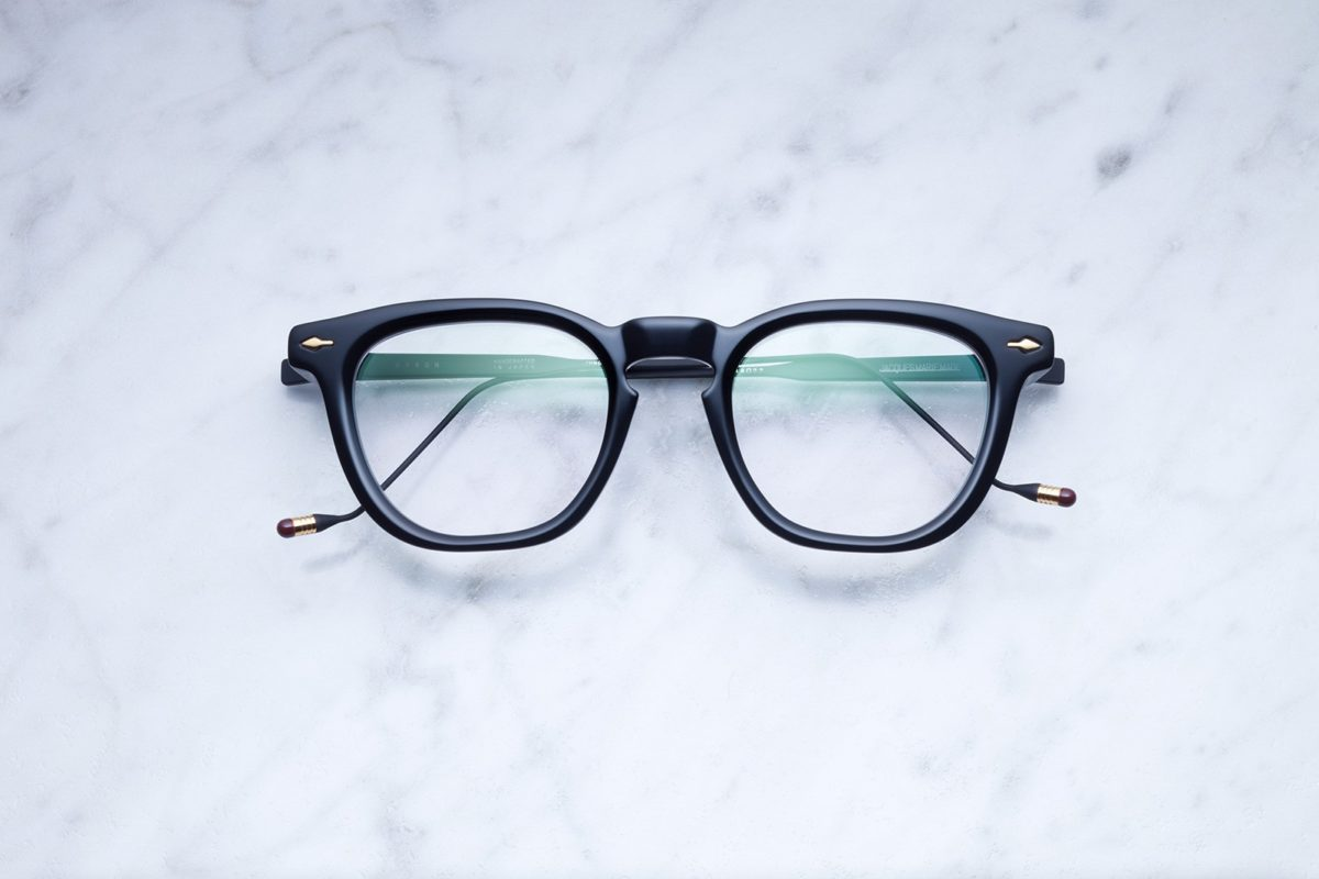 Jacques Marie Mage Byron style eyeglasses in Midnight (black)