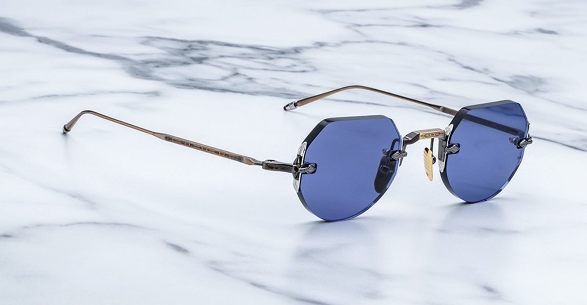 Jacques Marie Mage Cody style rimless sunglasses available at Dan Deutsch