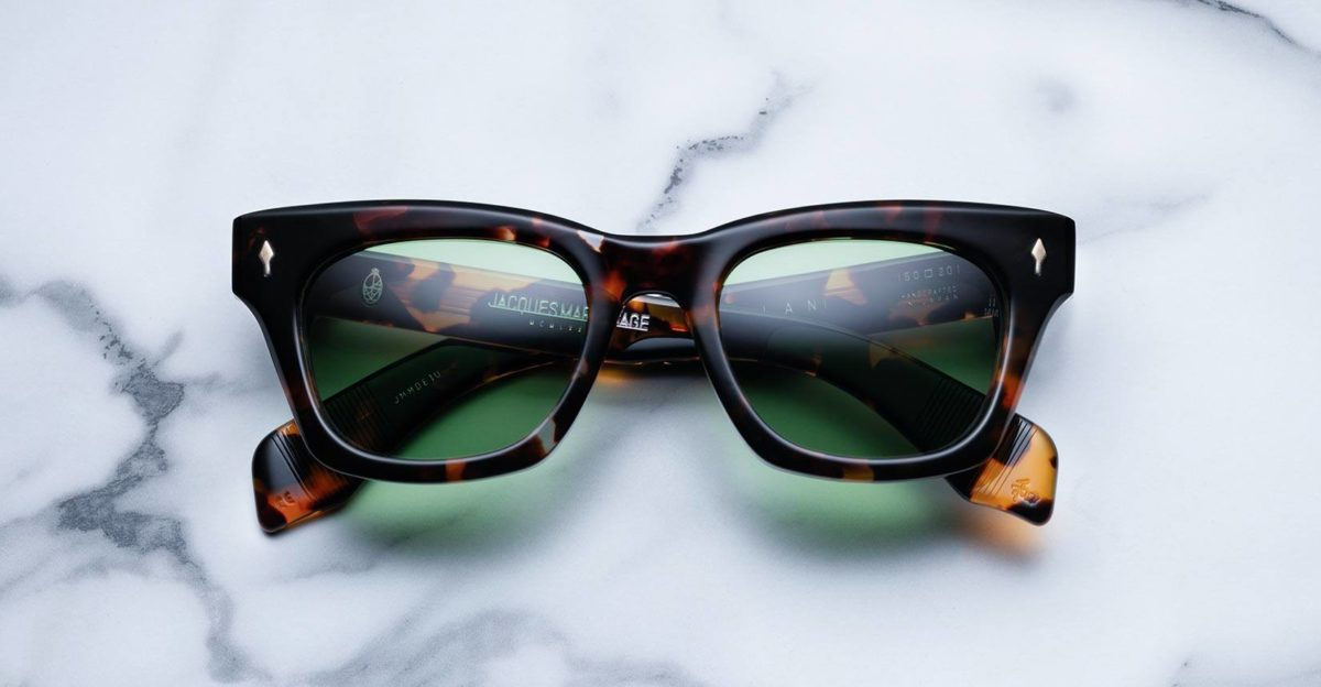 Jacques Marie Mage Dealan style sunglasses in colorway Lava