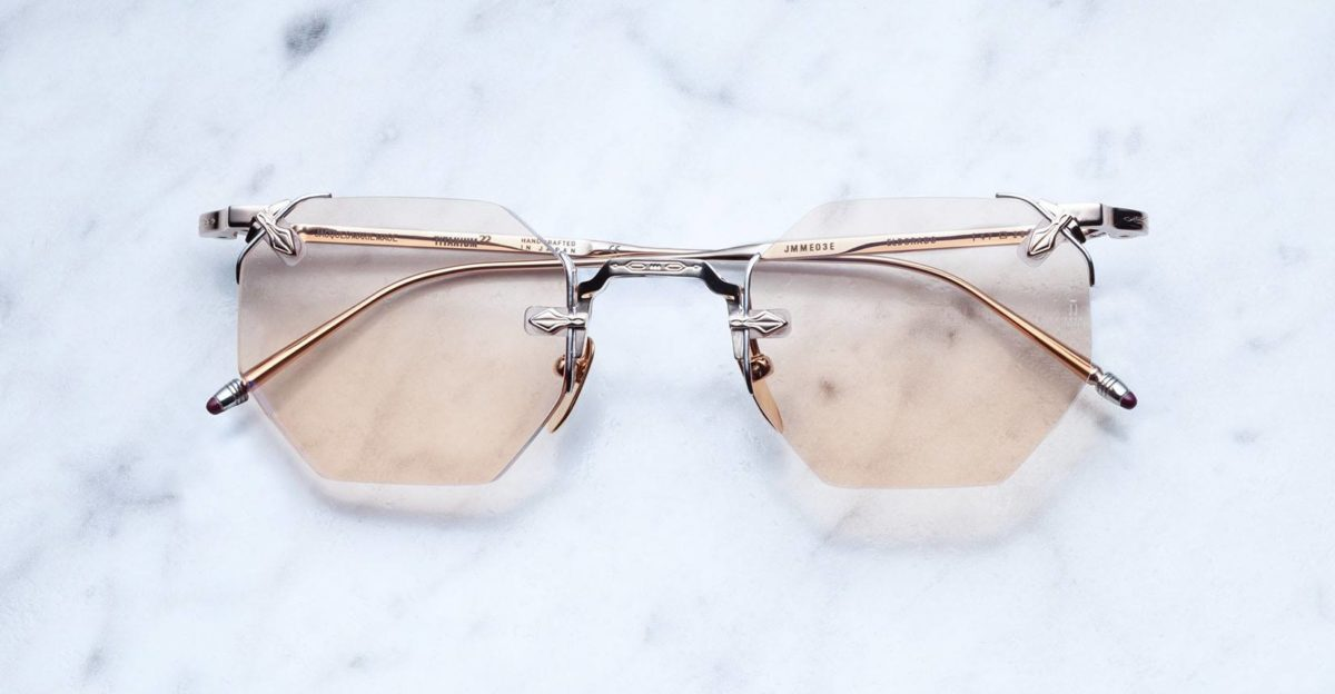 Jacques Marie Mage El Dorago rimless sunglasses in Rose Gold colorway