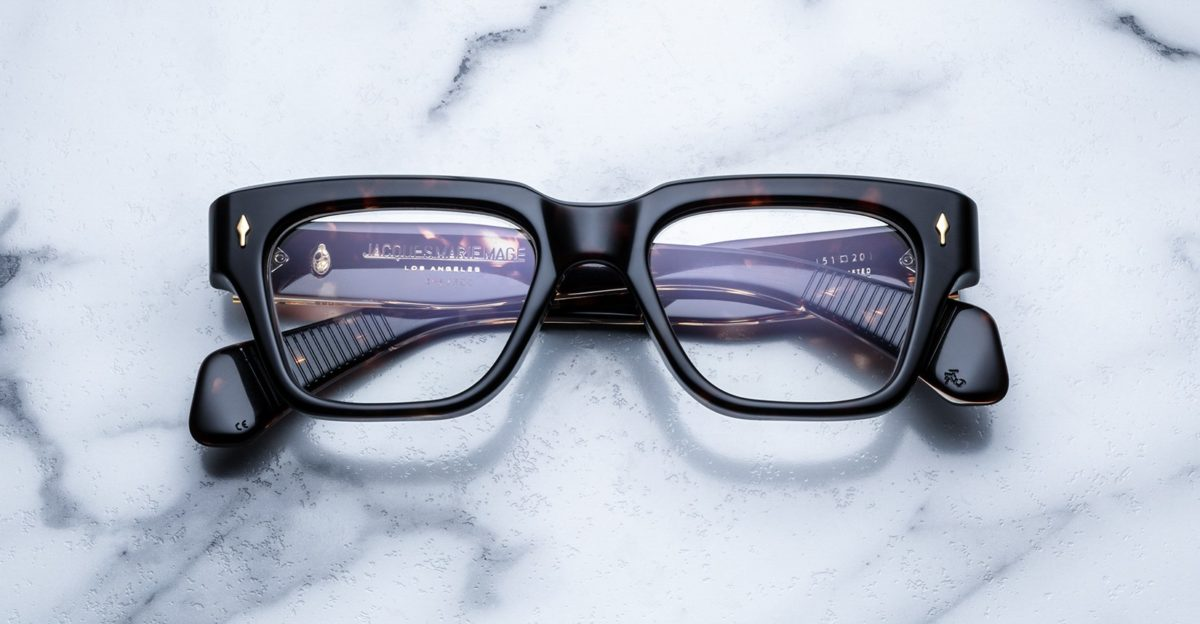 Jacques Marie Mage Fellini style glasses in Dark Havana