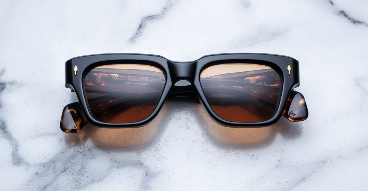 Jacques Marie Mage Fellini style sunglasses in black