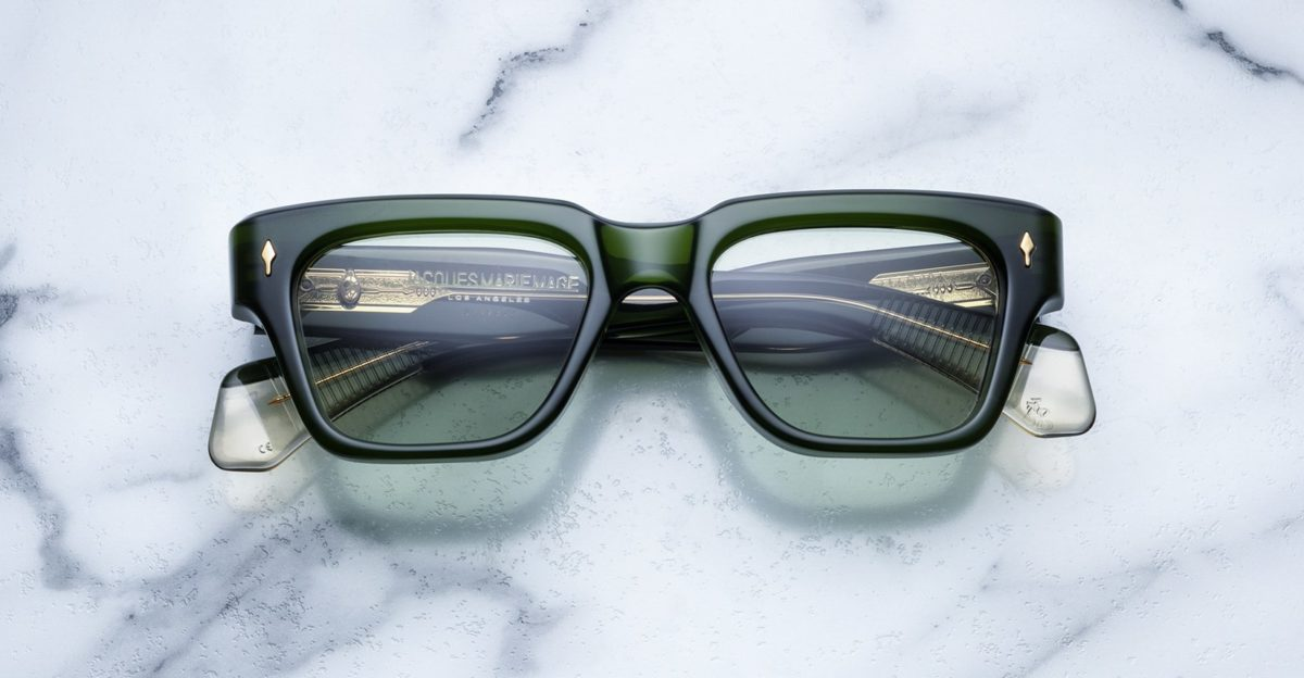 Jacques Marie Mage Fellini style sunglasses in the Rover colorway