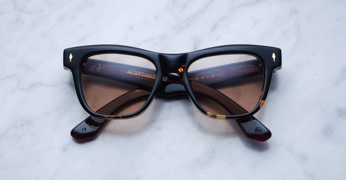 Jacques Marie Mage Fitzgerald style sunglasses in colorway Duo